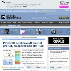 Power BI de Microsoft bientôt gratuit, en préversion sur iPad