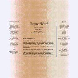 PRÉVERT, Jacques (1900-1977) ~La Poésie que j'aime ...
