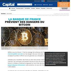 La Banque de France prévient des dangers du bitcoin