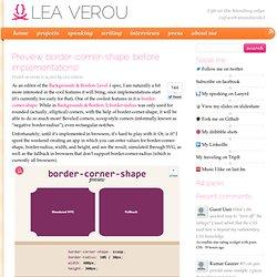 Preview border-corner-shape, before implementations!