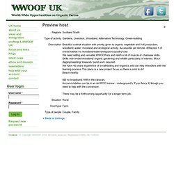 Preview hosts | WWOOF UK