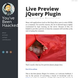Live Preview jQuery Plugin