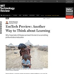 EmTech Preview: Another Way to Think about Learning | MIT Technology Review