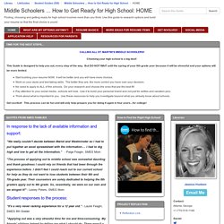 PREVIEW HOME - Middle Schoolers ... How to Get Ready for High School