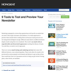 9 Tools to Test and Preview Your Newsletter