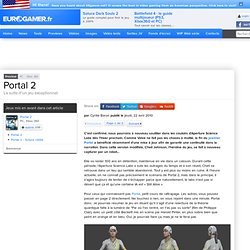 Portal 2 Preview // PC /// Eurogamer.fr