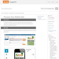 Preview Your Mobile Site - Duda Support