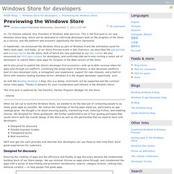 Previewing the Windows Store - Windows Store for developers