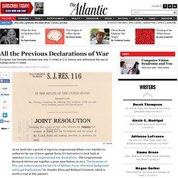 All the Previous Declarations of War - Garance Franke-Ruta