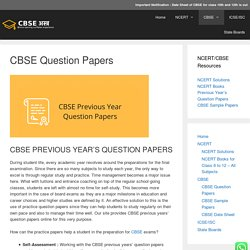 CBSE Previous Year Question Paper for Class 10 and 12 - CBSE Astra
