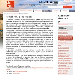 Prévision, prédiction