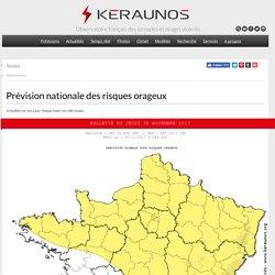 Prévision des orages, des tornades et de la grêle - Alerte aux orages - Bulletin de risque convectif France