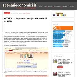 COVID-19: la previsione quasi esatta di 4CHAN