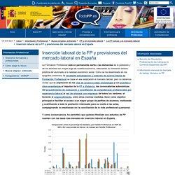 Inserción laboral de la FP y previsiones del mercado laboral en España - TodoFP - Ministerio de Educación y Formación Profesional
