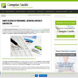 Le compte de résultat prévisionnel : définition, contenu et construction
