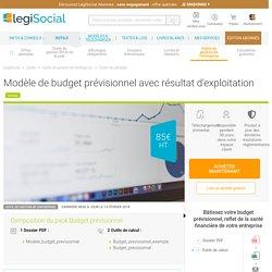 Modèle de budget prévisionnel avec résultat d'exploitation