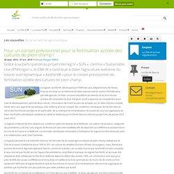 CRA WALLONIE - 2014 - Pour un conseil prévisionnel pour la fertilisation azotée des cultures de plein champ !