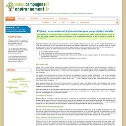 CAMPAGNES ET ENVIRONNEMENT 02/10/07 Phytnès : un prévisionnel phytos optimisé pour une protection durable !