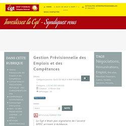 CGT BNP Paribas Delegation Nationale - Gestion Prévisionnelle des Emplois et des Compétences