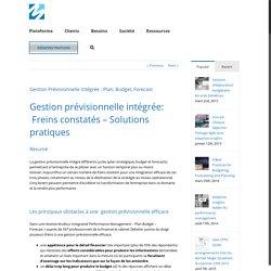 Gestion Prévisionnelles Intégrée: Plan, Budget et Forecasts