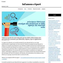 Taille du marché de jouet éducatif, part de 2020 à 2024 Analyse des prévisions de croissance par fabricants, régions, type et application – InFamous eSport