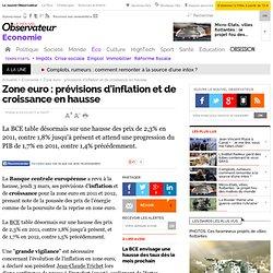Zone euro : prévisions d'inflation et de croissance en hausse - Economie