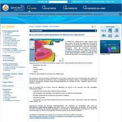 Les prévisions océanographiques de référence sur data.shom.fr