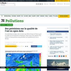 Des prévisions sur la qualité de l'air en open data