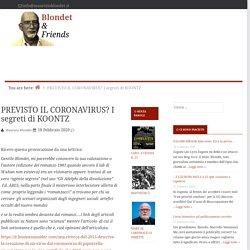 PREVISTO IL CORONAVIRUS? I segreti di KOONTZ — Blondet & Friends