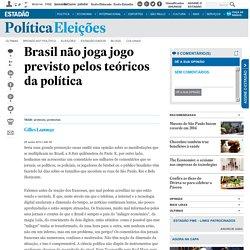 Brasil não joga jogo previsto pelos teóricos da política