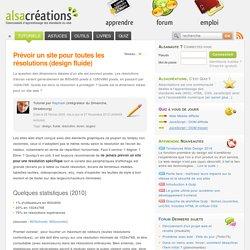 Prévoir un site pour toutes les résolutions - Alsacréations