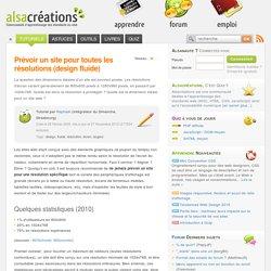 Prévoir un site pour toutes les résolutions
