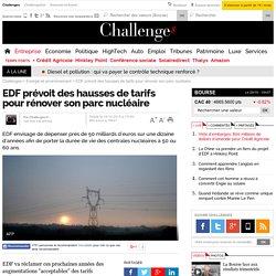 EDF prévoit des hausses de tarifs pour rénover son parc nucléaire