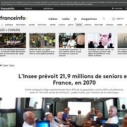 L'Insee prévoit 21,9 millions de seniors en France, en 2070