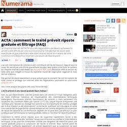 ACTA : comment le traité prévoit riposte graduée et filtrage (FA