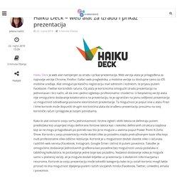 Haiku Deck - web alat za izradu i prikaz prezentacija - E-laboratorij