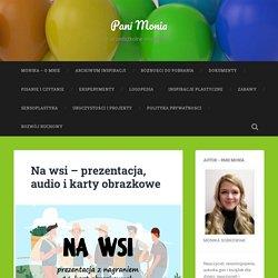 Na wsi - prezentacja, audio i karty obrazkowe - Pani Monia