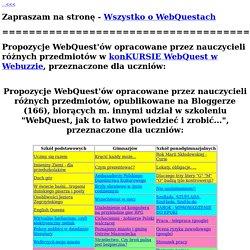 Prezentacja WebQuest'ów nauczycieli