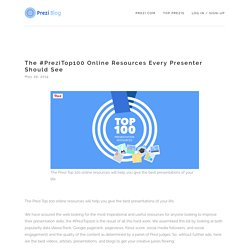 The #PreziTop100 Online Resources Every Presenter Should See