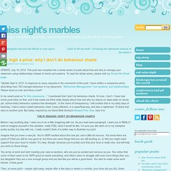 Too high a price: why I don't do behaviour charts « Miss Night's Marbles