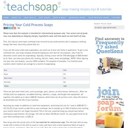 How to Price Your Cold Process Soaps