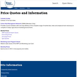 Cotton - Price Quotes and Indices