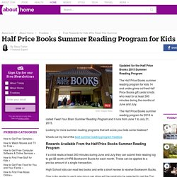 Half Price Books Summer Reading Program 2015