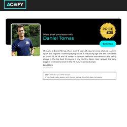Half Price Tennis Lesson with Daniel Tomas