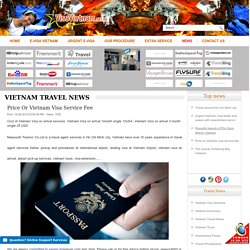 Price or Vietnam visa service fee