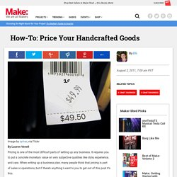 Price Your Handcrafted Goods