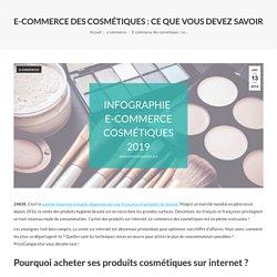 E-commerce des cosmétiques : ce que vous devez savoir !