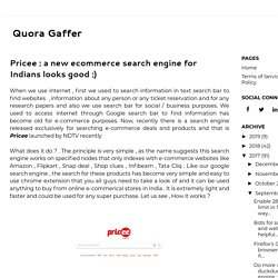 Pricee : a new ecommerce search engine for Indians looks good :)