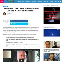 Priceless Trick: Here Is How To Fall Asleep In Just 60 Seconds...