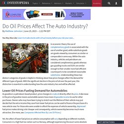 Do Oil Prices Affect The Auto Industry?